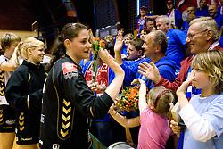 Neja Sobrl at last 10th Round handball match of Slovenian Women National Championships between RK Krim Mercator and RK Olimpija, on May 15, 2010, in Galjevica, Ljubljana, Slovenia. Olimpija defeated Krim 39-36, but Krim became Slovenian National Champion. (Photo by Vid Ponikvar / Sportida)