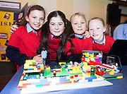 Brigid Oliveira, Maya Brown, Cornelia Kulchane and Johanna Brady  from Scoil Rois Knocknacarra at the Galway Education centre's Junior First Lego League at the Radisson Blu hotel. Photo:Andrew Downes, xposure.