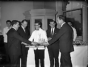 To introduce the international Smirnoff Vodka a tasting was held in the premises of Messrs. Gibney, O'Connell Street.  It was attended by hoteliers from Dublin City and County and by Commitee members of the Licensed Vintners and Grocers Association..14.02.1962