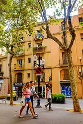 Street scene in the Rambla del Poblenou, Barcelona, Catalonia, Spain<br /> <br /> (c) Andrew Wilson | Edinburgh Elite media