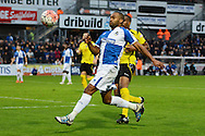 Bristol Rovers striker Jermaine Easter watches the ball during the The FA Cup match between Bristol Rovers and Chesham FC at the Memorial Stadium, Bristol, England on 8 November 2015. Photo by Alan Franklin.