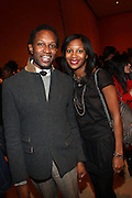 l to r: Chris Chambers and Marshariki Williamson at The Ryan Leslie listening party for his new album ' Transition ' presented by The NextSelection Lifestyle Group and UniversalMotown and held at The Times Center on November 4, 2009 in New York City. Terrence Jennings/Retna, Ltd