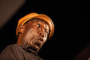 Congolese singer Samba Ngo performs at the Lowell Folk Festicval, 25 July 2009.
