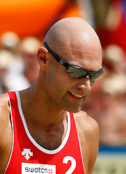 07.08.2011, Klagenfurt, Strandbad, AUT, Beachvolleyball World Tour Grand Slam 2011, im Bild Phil Dalhausser (USA), EXPA Pictures © 2011, PhotoCredit: EXPA/ Erwin Scheriau