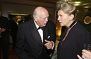 Lord Montagu and  and Katalin Bogyay, Opening of Hungary's Heritage-Princely Treasures from the Esterhaxy Collection. The Gilbert collection. Somerset House. 25 October 2004. ONE TIME USE ONLY - DO NOT ARCHIVE  © Copyright Photograph by Dafydd Jones 66 Stockwell Park Rd. London SW9 0DA Tel 020 7733 0108 www.dafjones.com