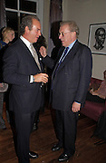 Charles Finch and Sir David Frost, Party to celebrate the publication of 'Rita's Culinary Trickery' by Rita Konig. Morton's. 18 November 2004.  ONE TIME USE ONLY - DO NOT ARCHIVE  © Copyright Photograph by Dafydd Jones 66 Stockwell Park Rd. London SW9 0DA Tel 020 7733 0108 www.dafjones.com