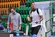 DESCRIZIONE : Campionato 2014/15 Serie A Beko Dinamo Banco di Sardegna Sassari - Grissin Bon Reggio Emilia Finale Playoff Gara4<br /> GIOCATORE : Kenneth Kadji Banana<br /> CATEGORIA : Before Pregame Curiosità<br /> SQUADRA : Dinamo Banco di Sardegna Sassari<br /> EVENTO : LegaBasket Serie A Beko 2014/2015<br /> GARA : Dinamo Banco di Sardegna Sassari - Grissin Bon Reggio Emilia Finale Playoff Gara4<br /> DATA : 20/06/2015<br /> SPORT : Pallacanestro <br /> AUTORE : Agenzia Ciamillo-Castoria/L.Canu