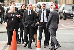 © Licensed to London News Pictures. 27/08/2015. Bury, UK.  Picture shows Nicky Butt & Ryan Giggs. The funeral of Neville Neville father of footballers Gary & Phil Neville & England net ball coach Tracey has taken place today at Bury Parish church. Neville died in Australia after being taken ill on a visit to support his daughter  Tracey.  Photo credit: Andrew McCaren/LNP