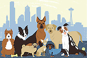 Seattle is a dog-friendly city.<br />