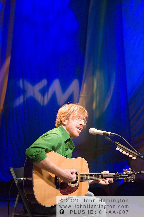 """American guitarist, composer and vocalist Trey Anastasio, most noted for his work with the legendary rock band Phish, performs at XM on Tuesday March 7, 2006.  The performance was part of XM's """"Artist Confidential"""" series."""