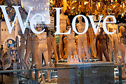 Now under new management, unclothed female mannequins remain crowded together on the shop floor of fashion retailer Topshop on Oxford Street during the third lockdown of the Coronavirus pandemic, on 5th February 2021, in London, England. Asos struck a £295m deal to buy four brands from failed retail group Arcadia. The deal includes brands, Topshop, Topman, Miss Selfridge and HIIT brands, but not the shops, leaving thousands of jobs with uncertain futures.