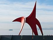 """Eagle"" 1971 painted steel by Alexander Calder (1898-1976), Seattle Art Museum. Olympic Sculpture Park, 2901 Western Avenue, Seattle, Washington 98121"