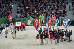 Team HKG - Opening Ceremony - Alltech FEI World Equestrian Games™ 2014 - Normandy, France.<br /> © Hippo Foto Team - Jon Stroud<br /> 24/06/14