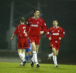 Falkirk's Kevin James scores & celes goal..St Johnstone v Falkirk..30/11/02©Michael Schofield.