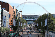 a General view as fans start to arrive early at Wembley before k/o. UEFA Champions league match, group E, Tottenham Hotspur v AS Monaco at Wembley Stadium in London on Wednesday 14th September 2016.<br /> pic by John Patrick Fletcher, Andrew Orchard sports photography.