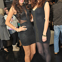 Free Pic/ No Repro Fee.Pictured at the opening of Kinsales Newest Night Club, Studio Blue, were Etaoin O'hAilpin (Former Miss Cork) and Mairead O'Farrell from Lockdown Models..Pic. John Allen