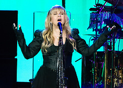 © Licensed to London News Pictures. 27/05/2015. London, UK.   Fleetwood Mac performing live at The O2 Arena, together with Christine Mc Vie who has rejoined the band.   In this pic - Stevie Nicks.  The band are due to headline the Isle of Wight Festival next month. Fleetwood Mac are a British-American rock band consisting of members Mick Fleetwood (drums), John McVie (bass guitar), Christine McVie (keyboards/vocals), Lindsey Buckingham (guitars, vocals), Stevie Nicks (vocals, tambourine).  Photo credit : Richard Isaac/LNP