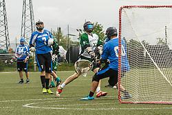 Olimpija Dragons vs Zagreb Buldogs during lacrosse match at Dragons Cup in Ivancna Gorica, Slovenia on 14th of May 2016  Photo by Grega Valancic / Sportida
