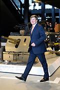 Koning Willem-Alexander opent de tentoonstelling Willem in het Nationaal Militair Museum in Soesterberg.<br /> <br /> King Willem-Alexander opens the exhibition Willem in the National Military Museum in Soesterberg.<br /> <br /> Op de foto/ On the photo:  Vertrek