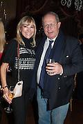 AURELIA BONITO; BARON MARC BURCA; , Eva Harold birthday party. Ballroom, Beach Blanket Babylon. Notting Hill, London. 19 November 2012.