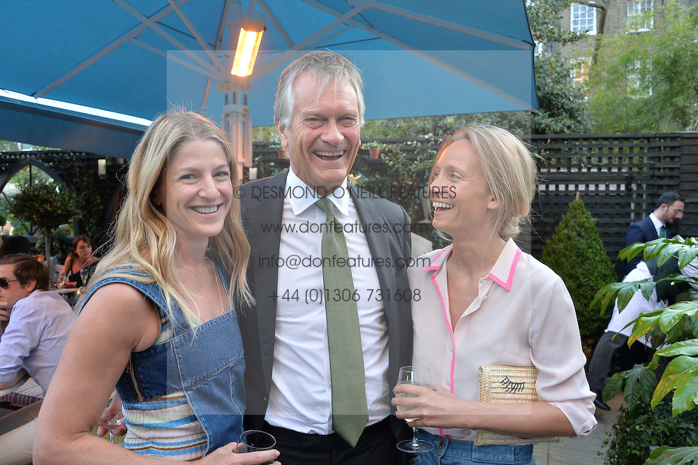PICTURE SHOWS:-Left to right, REBECCA MARKS, CHARLES DELEVINGNE and MARTHA WARD.<br /> Tuesday 14th April 2015 saw a host of London influencers and VIP faces gather together to celebrate the launch of The Ivy Chelsea Garden. Live entertainment was provided by jazz-trio The Blind Tigers, whilst guests enjoyed Moët & Chandon Champagne, alongside a series of delicious canapés created by the restaurant's Executive Chef, Sean Burbidge.<br /> The evening showcased The Ivy Chelsea Garden to two hundred VIPs and Chelsea<br /> residents, inviting guests to preview the restaurant and gardens which marry<br /> approachable sophistication and familiar luxury with an underlying feeling of glamour and theatre. The Ivy Chelsea Garden's interiors have been designed by Martin Brudnizki Design Studio, and cleverly combine vintage with luxury, resulting in a space that is both alluring and down-to-earth.