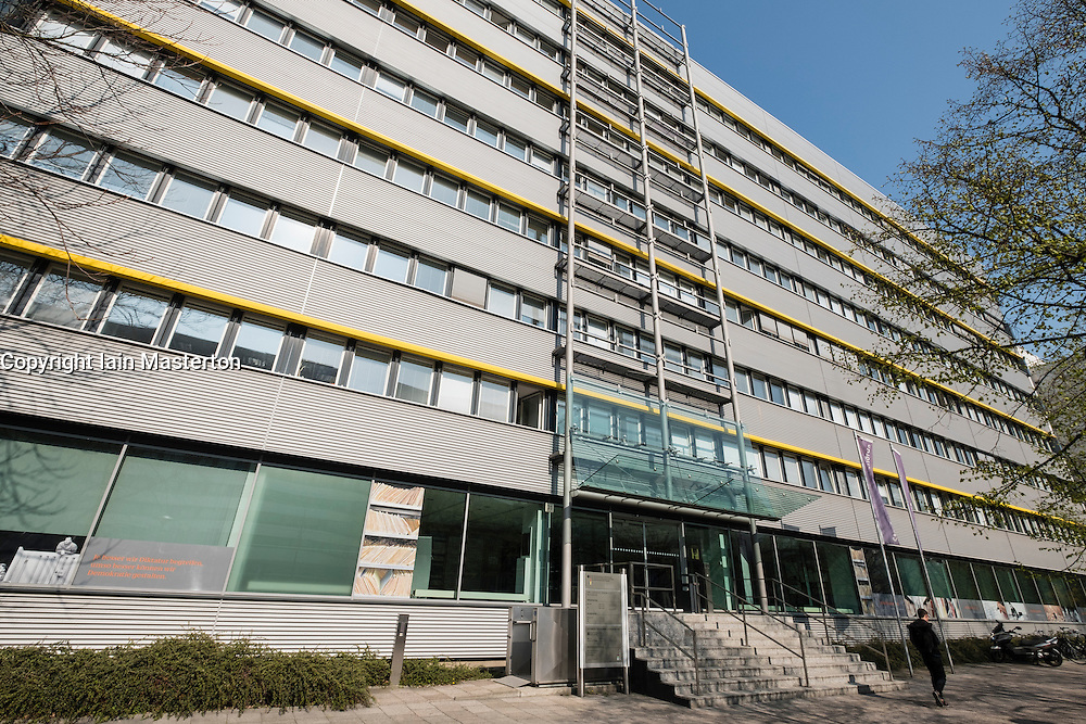 Exterior view of BSTU, the STASI records agency archive in Berlin Germany.( The Federal Commissioner for the Records of the State Security Service of the former GDR