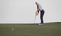 February 28, 2019 - Palm Beach Gardens, Florida, U.S. - Justin Thomas putts on the 16th hole during the first round of the Honda Classic Thursday at PGA National Resort and Spa in Palm Beach Gardens, February 28, 2019. (Credit Image: © Allen Eyestone/The Palm Beach Post via ZUMA Wire)