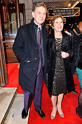 © Licensed to London News Pictures. 16/02/2016. ANTHONY ANDREWS and GEORGINA SIMPSON arrive for the press night of Mrs Henderson Presents press night at the Noel Coward Theatre. London, UK. Photo credit: Ray Tang/LNP