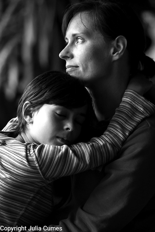 I captured this sweet moment between Kate Ellsworth and her daughter, Uma, when they were visiting one weekend. I remember how comforting my own mother's arms were when I was a child and so this moment really resonated with me. While mother/daughter relationships can be so complex and fraught, they also are perhaps the most primal of connections, the first relationship that defines us and one that remains primary to us through much of our lives.