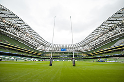 October 7, 2017 - Dublin, Ireland - A general view on Aviva Stadium during the Guinness PRO14 match between Leinster Rugby and Munster Rugby at Aviva Stadium in Dublin, Ireland on October 7, 2017  (Credit Image: © Andrew Surma/NurPhoto via ZUMA Press)
