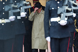 © Licensed to London News Pictures. 02/08/2017. London, UK. The DUKE OF EDINBURGH attends The Captain General's Parade to mark the finale of the 1664 Global Challenge at Buckingham Palace. It is the Duke's final own programme of individual public engagements. Photo credit: Ray Tang/LNP