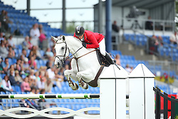 Toth Laszlo, (HUN), Isti<br /> Team Competition round 1 and Individual Competition round 1<br /> FEI European Championships - Aachen 2015<br /> © Hippo Foto - Stefan Lafrentz<br /> 19/08/15