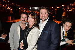 Left to right, CON O'NEILL, CATHY McGOWAN and MICHAEL BALL at a gala performance of 'Once The Musical' in aid of Oxfam held at the Phoenix Theatre, 110 Charing Cross Road, London on 17th March 2014.