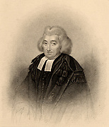 George Campbell (1719-1796) Scottish theologian. Principal of Marischal College, Aberdeen (1759-1796). Opposed the philosophy of John Locke and David Hume as he considered them an danger to faith.  Engraving from 'A Biographical Dictionary of Eminent Scotsmen' by the Rev. Thomas Thomson (Glasgow, Edinburgh and London, 1870).