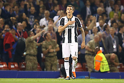 June 3, 2017 - Cardiff, Walles, United Kingdom - Mario Mandzukic of Juventus celebrating after the goal of 1-1 during the UEFA Champions League Final between Juventus and Real Madrid at National Stadium of Wales on June 3, 2017 in Cardiff, Wales. (Credit Image: © Matteo Ciambelli/NurPhoto via ZUMA Press)