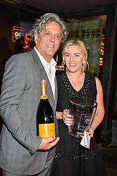 KATE WINSLET and GEORGIO LOCATELLI at the GQ Food & Drink Awards 2016 presented by Veuve Clicquot held at 100 Wardour Street, Soho, London on 26th April 2016.