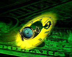pocket watch dollar bill abstract squander waste dissipate ravage misuse desecrate devastate CONCEPT STOCK PHOTOS CONCEPT STOCK PHOTOS