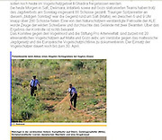 Police raiding an illegal trapping site for birds on Gozo, Maltese islands. Used on website of Stiftung Pro Artenvielfalt. <br /> Client: Committee Against Bird Slaughter