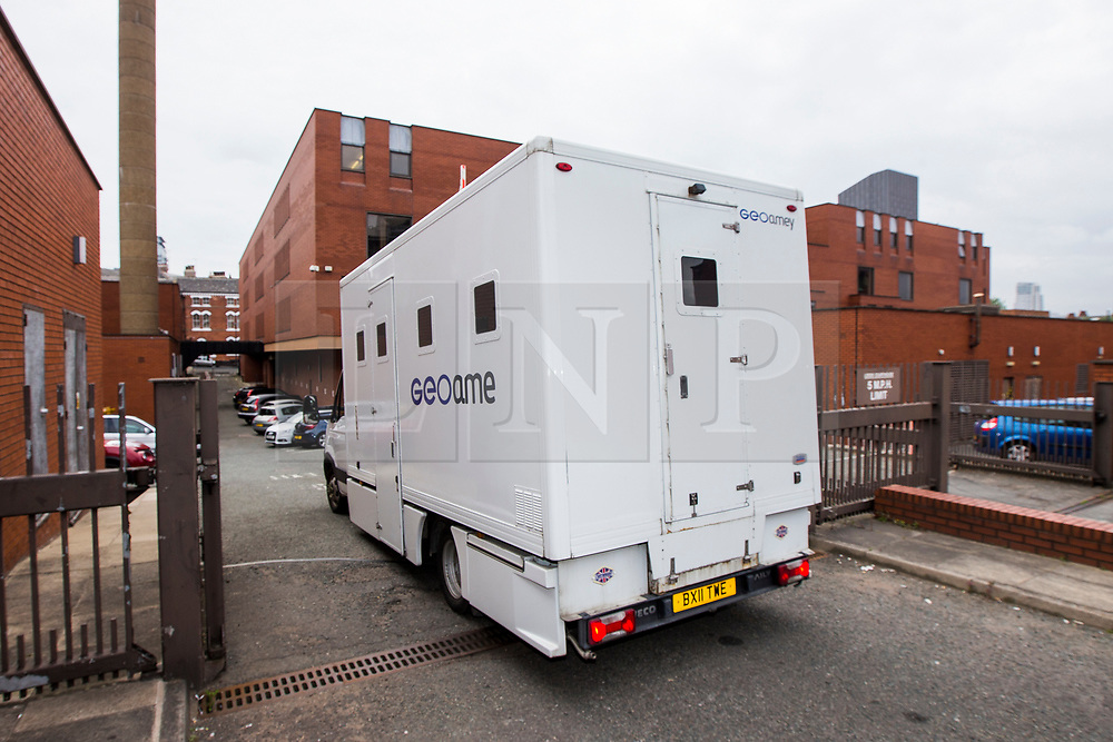 © Licensed to London News Pictures. 03/07/2017. Leeds UK. Prison vans arrive at Leeds Crown Court this morning. The teenager accused of murdering Katie Rough goes on Trial this morning at Leeds Crown Court. 7 year old Katie was found in a field near her home in York with severe lacerations to her neck & chest on January the 9th. Photo credit: Andrew McCaren/LNP