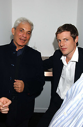 Left to right, SIMON RUBIN and ZAC GOLDSMITH at the opening party for a new bowling alley All Star Lanes, at Victoria House, Bloomsbury Place, London on 19th January 2006.<br />