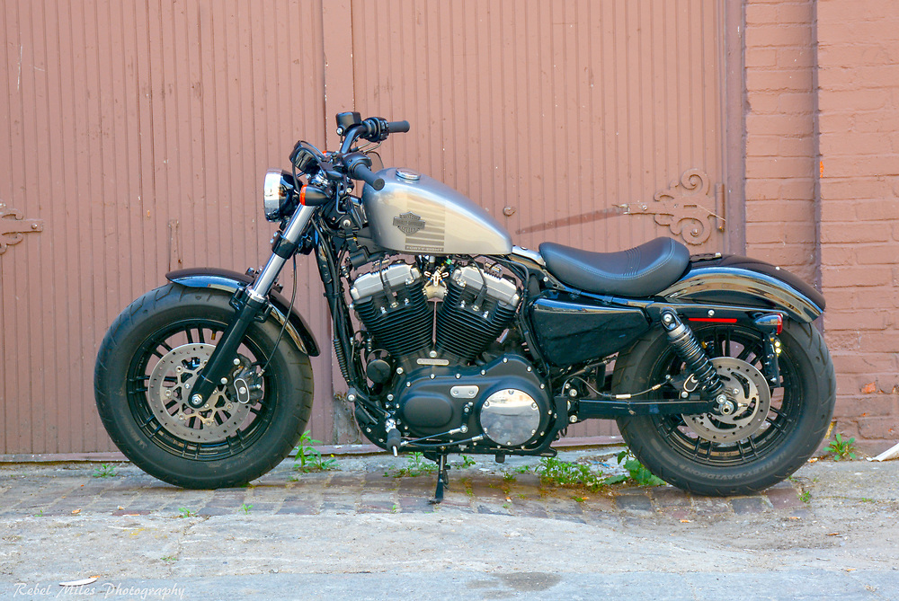 2017 Harley Davidson Sportster 49 In An Alley In Traverse City, Michigan