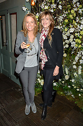 Left to right, GEORGIA BYNG and MARTHA FIENNES at The Ivy Kensington Brasserie International Women's Day & Terrace Launch Party held at The Ivy Kensington Brasserie, 96 Kensington High Street, London on 8th March 2016.