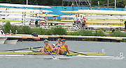 Eton Dorney, Windsor, Great Britain,<br /> <br /> 2012 London Olympic Regatta, Dorney Lake. Eton Rowing Centre, Berkshire[ Rowing].<br /> <br /> Description; Women's Pairs,  Gold Medalist Helen GLOVER and Heather STANNING. GBR W2-   Dorney Lake.<br /> <br /> 11:58:13  Wednesday  01/08/2012<br /> <br /> [Mandatory Credit: Peter Spurrier/Intersport Images]