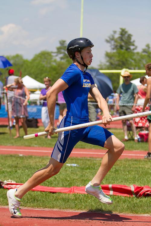 boys pole vault, Maine State Track & FIeld Meet - Class B