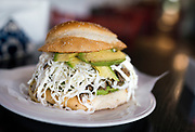 The cemita arabe with roasted pork, cheese, and avocado at El Panzon Panaderia in Madison, Wisconsin, Thursday, June 20, 2019.