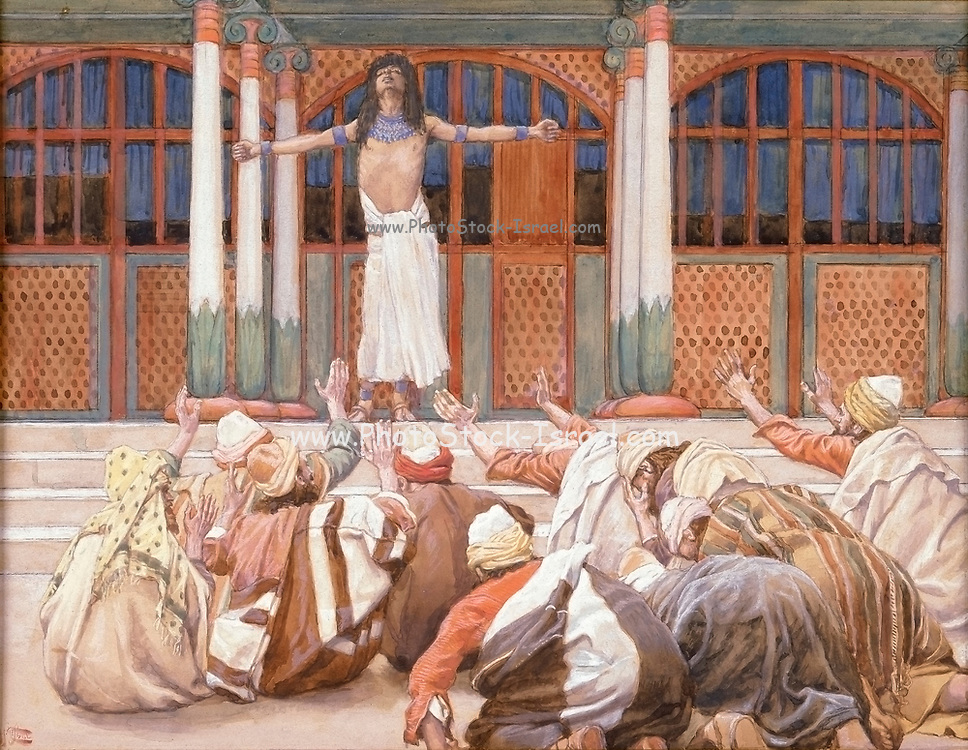 Joseph Maketh Himself Known to his Brethren Gouache paint on cardboard by James Tissot  1896-1902