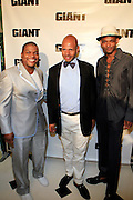 Kehinde Wiley, Emil Wilbekin, and Brian Jackson at The Giant Magazine Party, celebrating cover girl Kimora Lee Simmons and new Editor-in-Chief Emil Wilbekin, the award-winning editor as he unveils his debut issue.