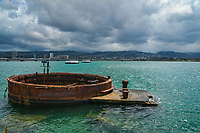 Exposed Hull of USS Arizona, Pearl Harbor