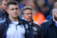 Leicester City Manager Claude Puel (c) makes his way to the dugout. Premier league match, Stoke City v Leicester City at the Bet365 Stadium in Stoke on Trent, Staffs on Saturday 4th November 2017.<br /> pic by Chris Stading, Andrew Orchard sports photography.