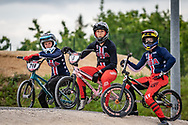 2021 UCI BMXSX World Cup 1&2<br /> Verona (Italy) - Friday Practice<br /> ^we#218 VAUGHN, Daleny (USA, WE) DK Bicycles<br /> ^we#6 STANCIL, Felicia (USA, WE) Ssquared, AnswerBMX, TLD<br /> ^we#217 RIDENOUR, Payton (USA, WE) Mongoose, E6 Wheels